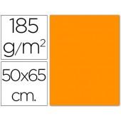 Cartolina 185 grs 50x65 cm. guarro. laranja
