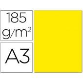 Cartolina guarro din a3 amarelo fluorescente 185 gr embalagem de 50 folhas