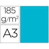 Cartolina guarro din a3 azul turquesa 185 gr embalagem de 50 folhas