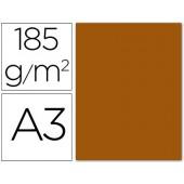 Cartolina guarro din a3 castanho chocolate 185 gr embalagem de 50 folhas