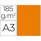 Cartolina guarro din a3 laranja 185 gr embalagem de 50 folhas