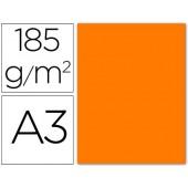 Cartolina guarro din a3 laranja fluorescente 185 gr embalagem de 50 folhas