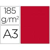 Cartolina guarro din a3 vermelho 185 gr embalagem de 50 folhas