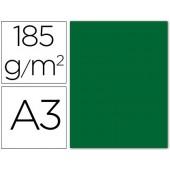 Cartolina guarro din a3 verde escuro 185 gr embalagem de 50 folhas