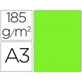 Cartolina guarro din a3 verde fluorescente 185 gr embalagem de 50 folhas