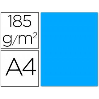 Cartolina guarro din a4 azul maldivas 185 gr embalagem de 50 folhas