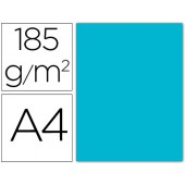 Cartolina guarro din a4 azul turquesa 185 gr embalagem de 50 folhas