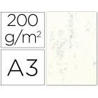 Cartolina marmoreada 200 grs. emb. 100. a3. creme claro