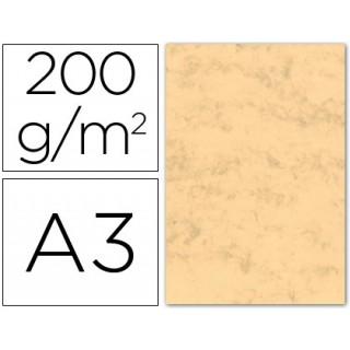 Cartolina marmoreada 200 grs. emb. 100 fls. a3. ocre