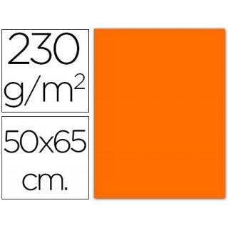 Cartolina fluorescente. 50 x 65 cm. 230 grs. laranja