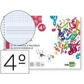 Bloco musica liderpapel formato quarto ao baixo 20 folhas 100 grs impressao pentagrama com espaço para anotações