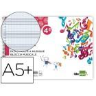 Caderno de musica liderpapel pentagrama pautado 2.5mm quarto 20 folhas 10g/m2
