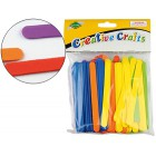 Palitos para polo borracha eva 11 x 1 cm blister de 150 unidades cores sortidas