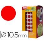 Etiquetas auto adesivas circulares 10.5 mm vermelho em rolo