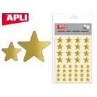 Etiquetas apli estrela ouro bolsa com 3 folhas
