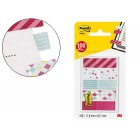 Bandas separadoras post-it 684-can5-eu decoradas pequenas 11.9 x 43.20 mm blister de 100 unidades sortidas