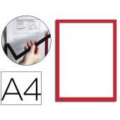 Moldura porta anuncios durable magnetico a4 vermelho pack de 5 unidades