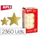 Etiquetas apli estrela ouro bolsa de 2360 unidades