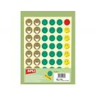 Etiquetas apli escolares caras com expressoes -- bolsas de 12 folhasmr smiley
