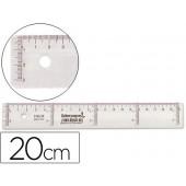 Regua plastico cristal liderpapel transparente 20 cm