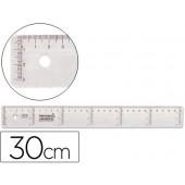 Regua plastico cristal liderpapel transparente 30 cm