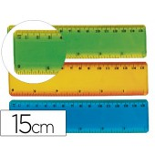 Regua plastico flexivel liderpapel de 15 cm cores sortidas