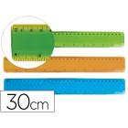 Regua plastico flexivel liderpapel de 30 cm cores sortidas