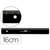 Regua mor 16 cm plastico preta