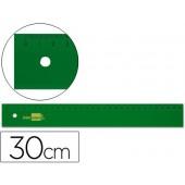Regua liderpapel 30 cm plastico verde