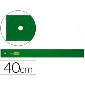 Regua liderpapel 40 cm plastico verde