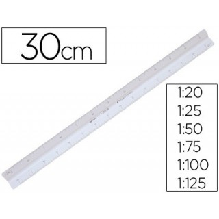 Escala plastico triangular 30 cm