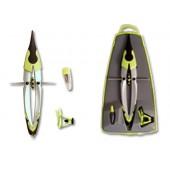 Compasso liderpapel one com alongamento e adaptador universal e minas cores sortidas