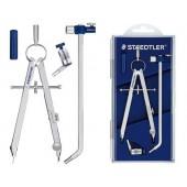 Compasso staedtler micrometrico. com tubo de minas e adaptador universal de rosca
