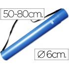 Tubo porta desenhos extensivel 80 cm azul