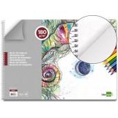 Bloco desenho liderpapel artistico espiral 460x325mm 20 folhas 180 g/m2 sem esquadria
