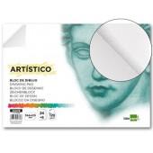 Bloco desenho liderpapel artistico colado din-a2 30 folhas 120 gr liso 420x594 mm