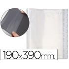 Bolsas protectoras para encadernacao adesivas em polipropileno cor transparente medidas 190x390mm