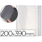 Bolsas protectoras para encadernacao adesivas em polipropileno cor transparente medidas 200x390mm