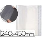 Bolsas protectoras para encadernacao adesivas em polipropileno cor transparente medidas 240x450mm