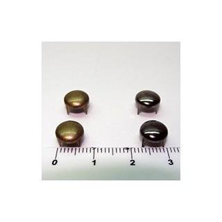 Tacha redonda 8mm ouro v. /prata v. (unid.)