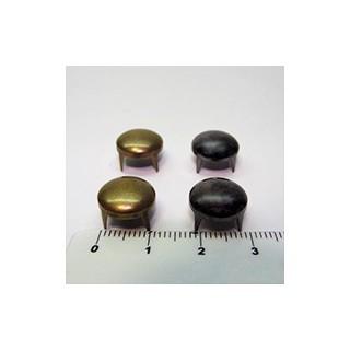 Tacha redonda 12mm ouro v./prata v. (unid.)
