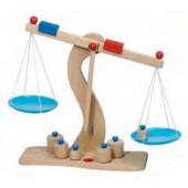 Balança de madeira com 6 pesos 51856