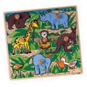 Puzzle encaixes animais selvagens - 2202963