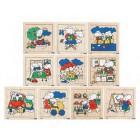 Conj. 10 puzzles ratinhos atarefados - 2203427