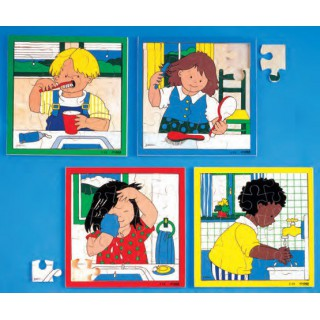 Puzzle higiene lavar as mãos - 2203402