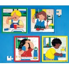 Puzzle higiene lavar a cara - 2203403