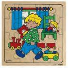 Puzzle crianças divertem-se brincar em casa - 2203431