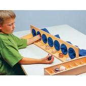 Moldura com 7 bolsas para jogo sensorial - 102325
