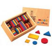 Blocos lógicos madeira 51100
