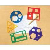 Conjunto de stencil de formas geométricas ler 5440